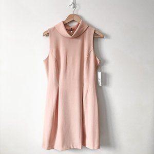 Eliza J Sleeveless Blush Pink Cowl Neck Dress 10